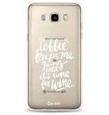 Casetastic Softcover Samsung Galaxy J5 (2016) - Coffee Wine White Transparent