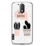 Casetastic Softcover Motorola Moto G4 / G4 Plus - Cactus Love