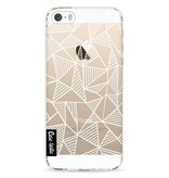 Casetastic Softcover Apple iPhone 5 / 5s / SE - Abstraction Lines White Transparent