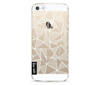 Abstraction Lines White Transparent - Apple iPhone 5 / 5s / SE