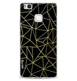 Casetastic Softcover Huawei P9 Lite - Abstraction Outline Gold