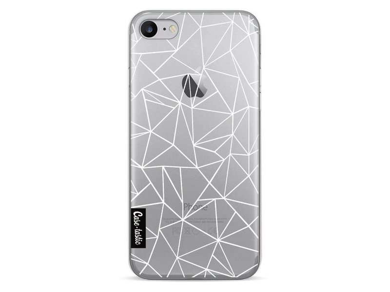 Casetastic Softcover Apple iPhone 7 - Abstraction Outline White Transparent