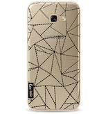 Casetastic Softcover Samsung Galaxy A5 (2017) - Abstract Dotted Lines Black Transparent