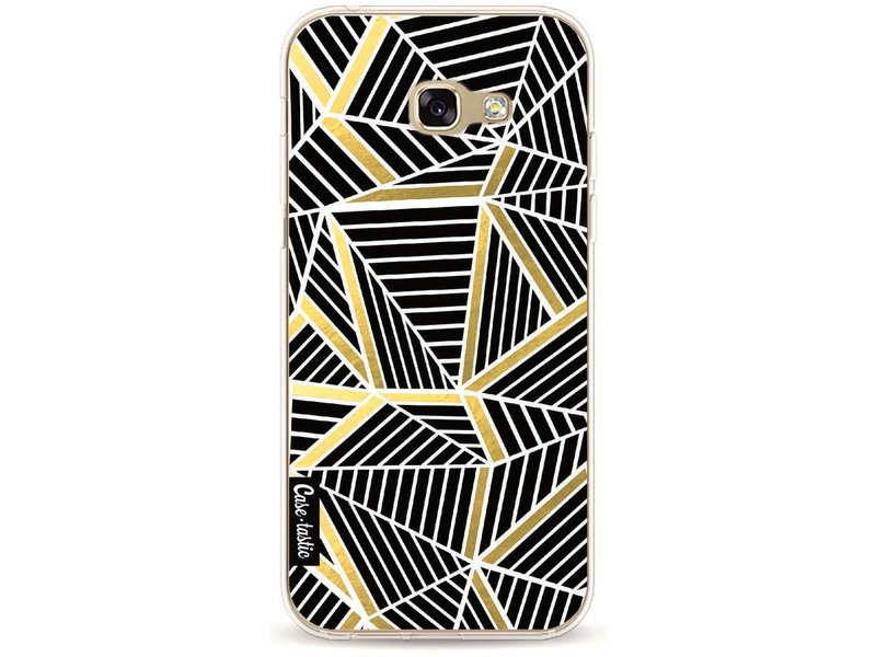 Casetastic Softcover Samsung Galaxy A5 (2017) - Abstraction Lines Black Gold