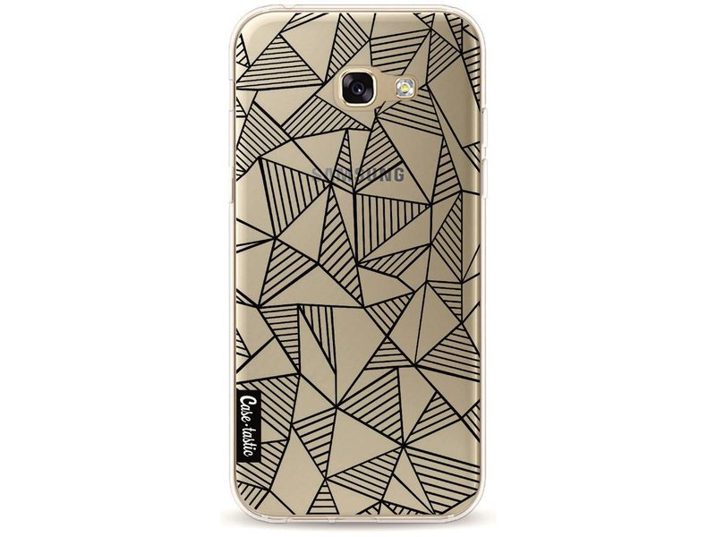 Casetastic Softcover Samsung Galaxy A5 (2017) - Abstraction Lines Black Transparent
