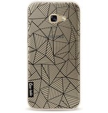 Casetastic Softcover Samsung Galaxy A5 (2017) - Abstraction Lines Transparent