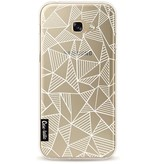 Casetastic Softcover Samsung Galaxy A5 (2017) - Abstraction Lines White Transparent