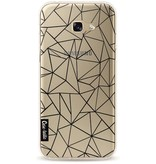Casetastic Softcover Samsung Galaxy A5 (2017) - Abstraction Outline Black Transparent