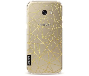 Abstraction Outline Gold Transparent - Samsung Galaxy A5 (2017)