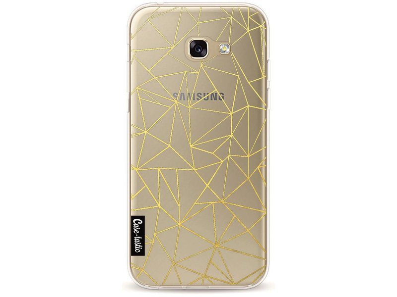 Casetastic Softcover Samsung Galaxy A5 (2017) - Abstraction Outline Gold Transparent
