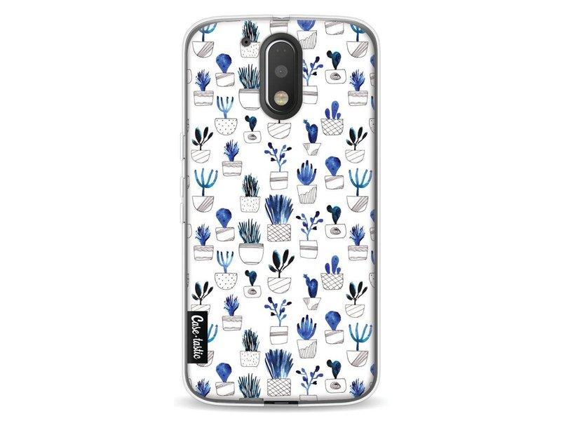 Casetastic Softcover Motorola Moto G4 / G4 Plus - Blue Cacti