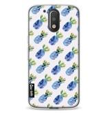 Casetastic Softcover Motorola Moto G4 / G4 Plus - Blue Pineapples