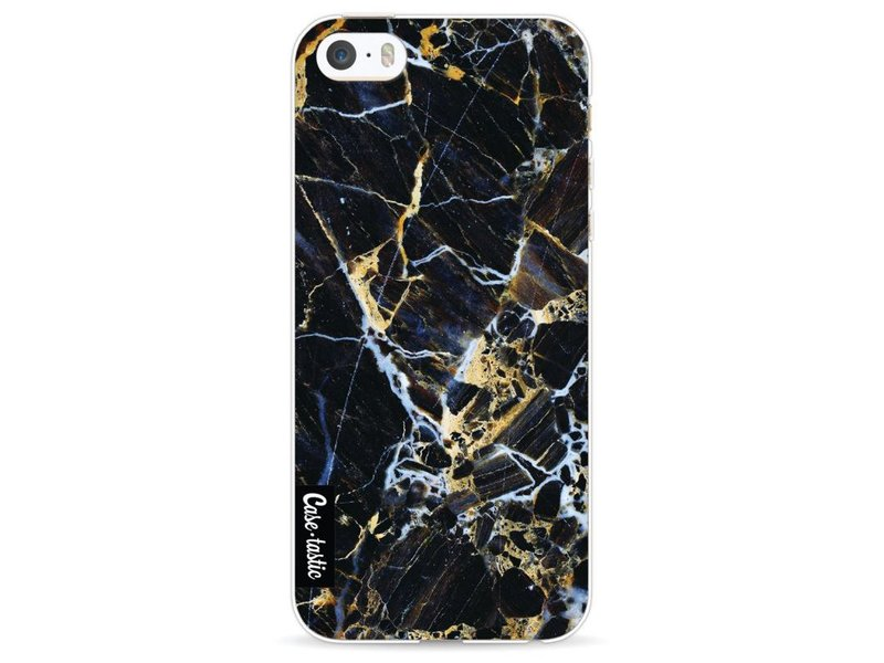 Casetastic Softcover Apple iPhone 5 / 5s / SE - Black Gold Marble