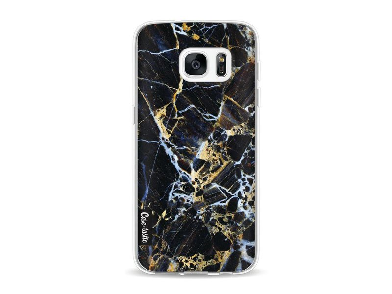 Casetastic Softcover Samsung Galaxy S7 - Black Gold Marble