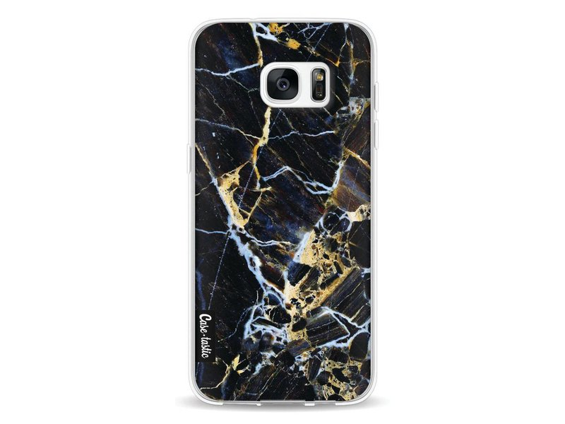 Casetastic Softcover Samsung Galaxy S7 Edge - Black Gold Marble