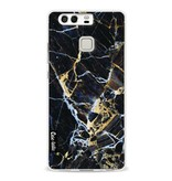 Casetastic Softcover Huawei P9  - Black Gold Marble
