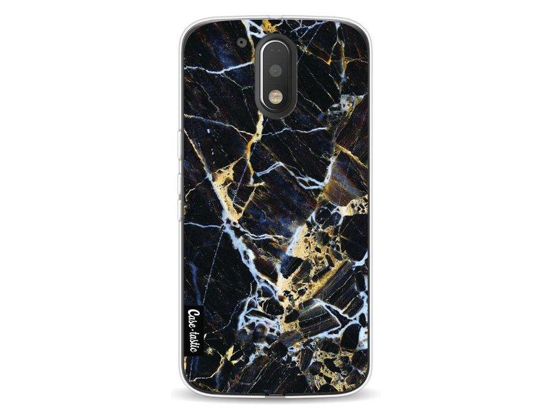 Casetastic Softcover Motorola Moto G4 / G4 Plus - Black Gold Marble