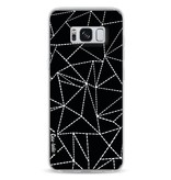 Casetastic Softcover Samsung Galaxy S8 - Abstract Dotted Lines Black