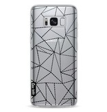 Casetastic Softcover Samsung Galaxy S8 - Abstract Dotted Lines Black Transparent