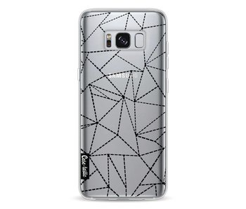 Abstract Dotted Lines Black Transparent - Samsung Galaxy S8