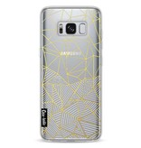 Casetastic Softcover Samsung Galaxy S8 - Abstraction Half Half Transparent