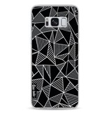 Casetastic Softcover Samsung Galaxy S8 - Abstraction Lines Black