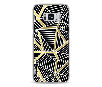 Abstraction Lines Black Gold - Samsung Galaxy S8