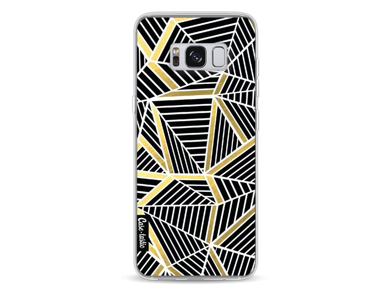 Casetastic Softcover Samsung Galaxy S8 - Abstraction Lines Black Gold