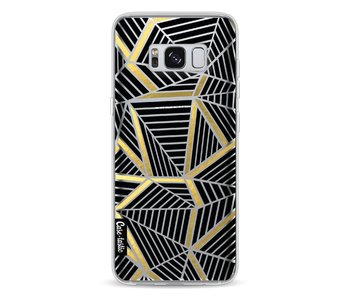 Abstraction Lines Black Gold Transparent - Samsung Galaxy S8