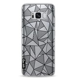 Casetastic Softcover Samsung Galaxy S8 - Abstraction Lines Black Transparent