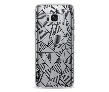 Abstraction Lines Black Transparent - Samsung Galaxy S8