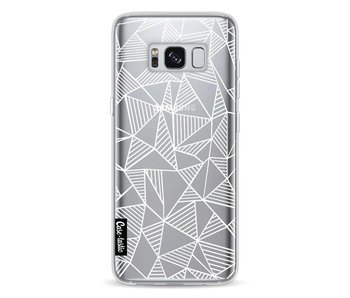 Abstraction Lines White Transparent - Samsung Galaxy S8