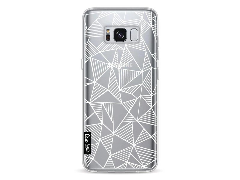 Casetastic Softcover Samsung Galaxy S8 - Abstraction Lines White Transparent
