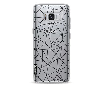 Abstraction Outline Black Transparent - Samsung Galaxy S8