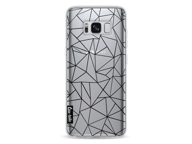 Casetastic Softcover Samsung Galaxy S8 - Abstraction Outline Black Transparent