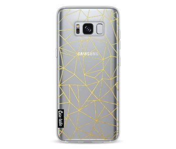 Abstraction Outline Gold Transparent - Samsung Galaxy S8