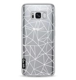 Casetastic Softcover Samsung Galaxy S8 - Abstraction Outline White Transparent
