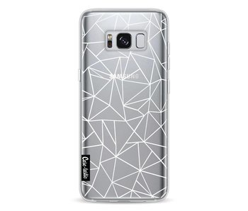 Abstraction Outline White Transparent - Samsung Galaxy S8