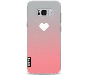 Peach Heart Fade - Samsung Galaxy S8 Plus