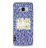Casetastic Softcover Samsung Galaxy S8 - Creme de la Creme Navy
