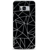 Casetastic Softcover Samsung Galaxy S8 Plus - Abstract Dotted Lines Black