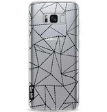 Casetastic Softcover Samsung Galaxy S8 Plus - Abstract Dotted Lines Black Transparent