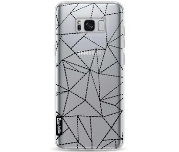 Abstract Dotted Lines Black Transparent - Samsung Galaxy S8 Plus