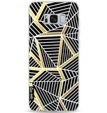 Casetastic Softcover Samsung Galaxy S8 Plus - Abstraction Lines Black Gold