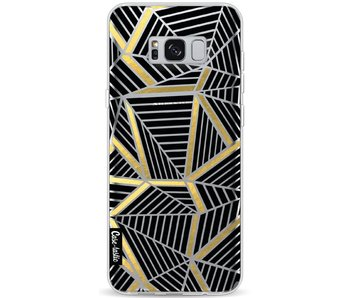 Abstraction Lines Black Gold Transparent - Samsung Galaxy S8 Plus