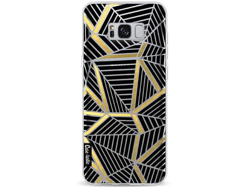 Casetastic Softcover Samsung Galaxy S8 Plus - Abstraction Lines Black Gold Transparent
