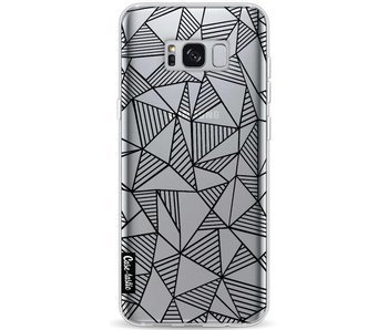 Abstraction Lines Black Transparent - Samsung Galaxy S8 Plus