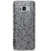 Casetastic Softcover Samsung Galaxy S8 Plus - Abstraction Lines Transparent
