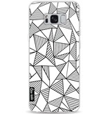 Casetastic Softcover Samsung Galaxy S8 Plus - Abstraction Lines White