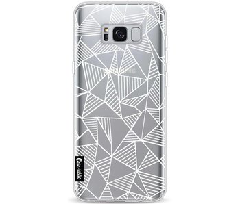 Abstraction Lines White Transparent - Samsung Galaxy S8 Plus